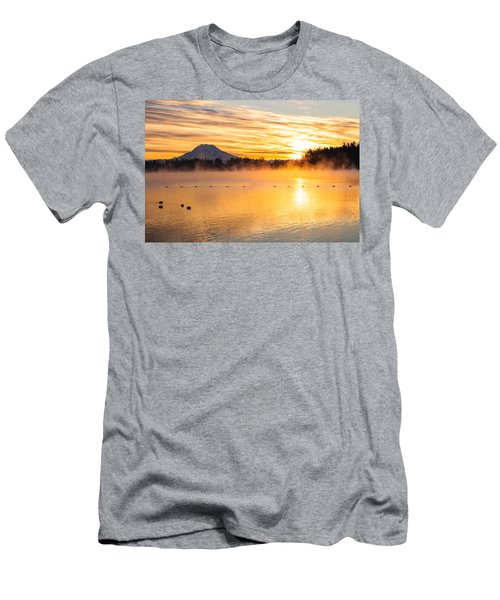 American Lake Misty Sunrise Men's T-Shirt (Athletic Fit)