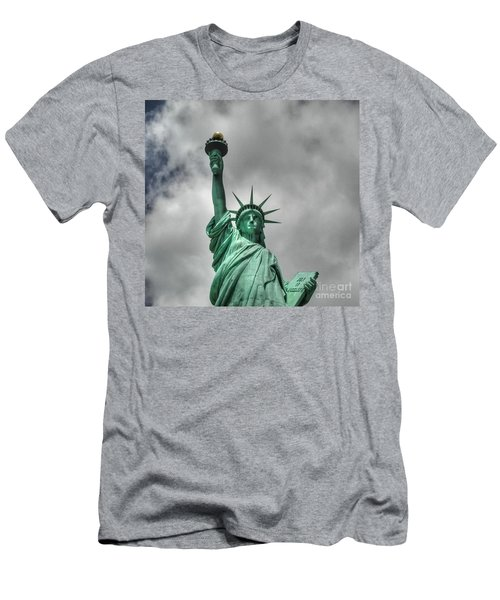 America's Lady Liberty Men's T-Shirt (Athletic Fit)