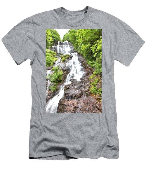 Amicalola Falls Men's T-Shirt (Slim Fit) by Gordon Elwell