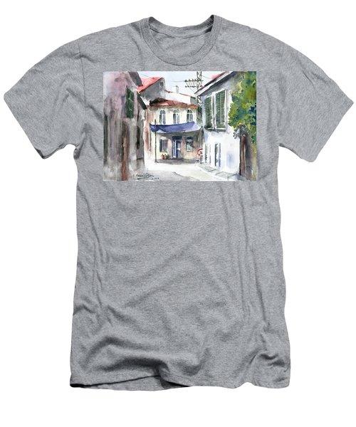 An Authentic Street In Urla - Izmir Men's T-Shirt (Slim Fit) by Faruk Koksal