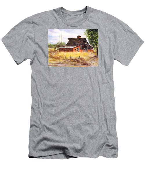 An Old Red Barn Men's T-Shirt (Athletic Fit)
