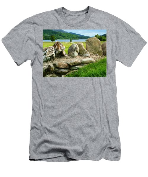 Ancient Stone Wall At Loch Achray Men's T-Shirt (Athletic Fit)