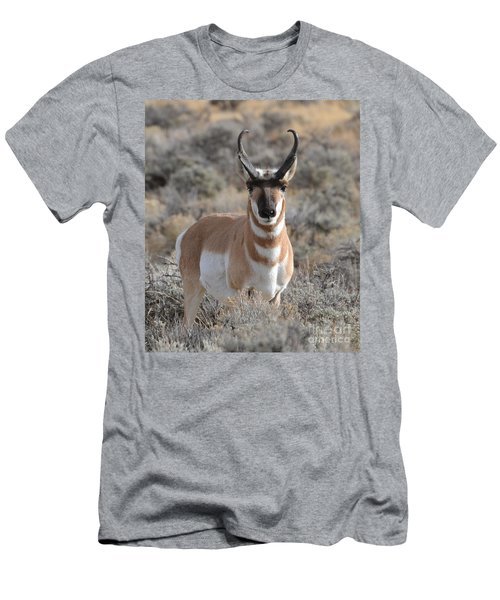 Men's T-Shirt (Athletic Fit) featuring the photograph ...and The Antelope Play by Dorrene BrownButterfield