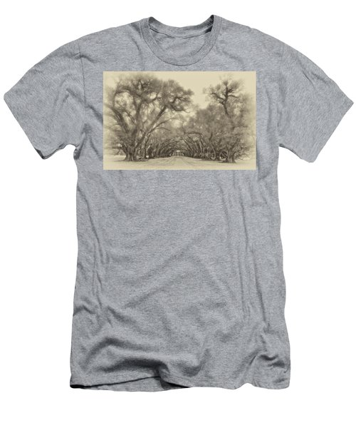 And Time Stood Still Sepia Men's T-Shirt (Athletic Fit)
