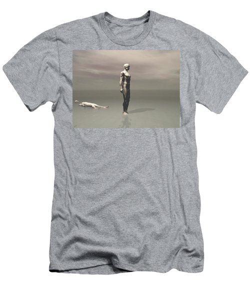 Men's T-Shirt (Slim Fit) featuring the digital art Anger by John Alexander