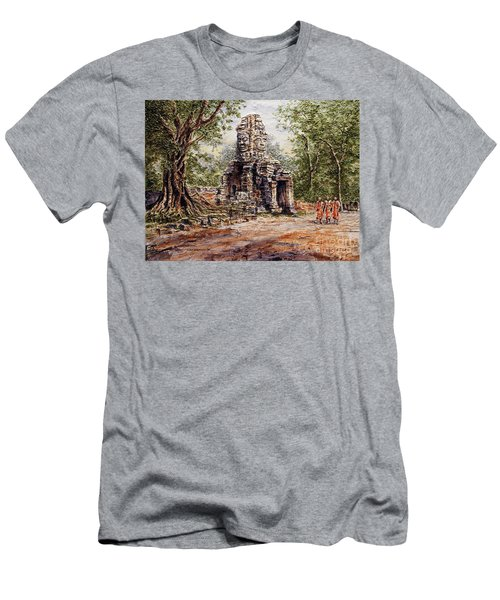 Angkor Temple Gate Men's T-Shirt (Athletic Fit)