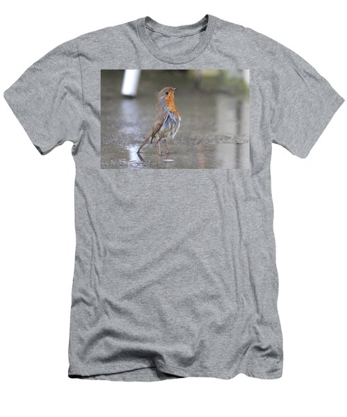 Angry Bird  Men's T-Shirt (Athletic Fit)