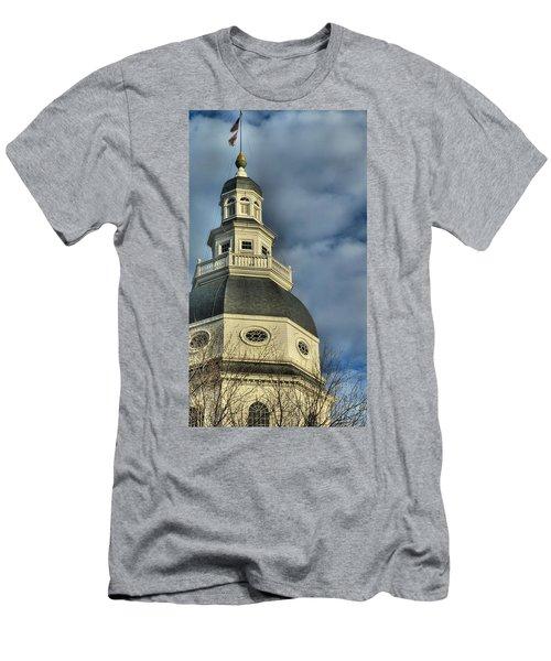 Annapolis Statehouse Men's T-Shirt (Athletic Fit)