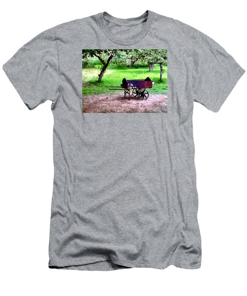 Men's T-Shirt (Slim Fit) featuring the photograph Antique Wheelbarrow by Sadie Reneau