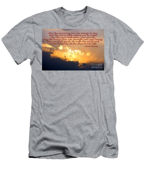 Apache Blessing  Men's T-Shirt (Slim Fit) by Kathy  White