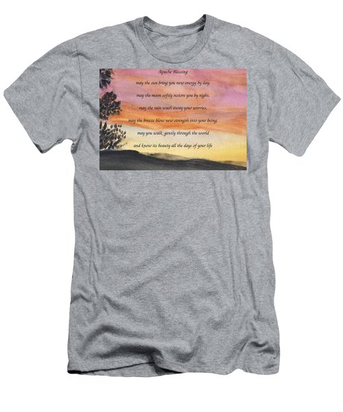 Apache Blessing With Sunset Men's T-Shirt (Athletic Fit)