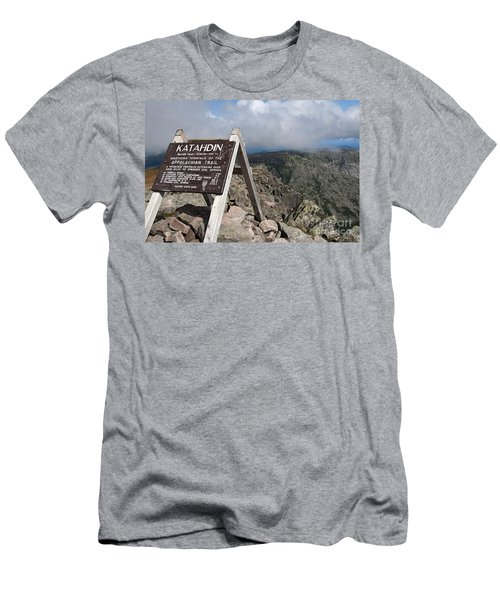 Appalachian Trail Mount Katahdin Men's T-Shirt (Athletic Fit)