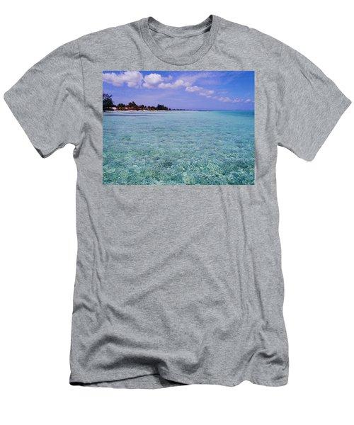 Aqua Blue Men's T-Shirt (Athletic Fit)