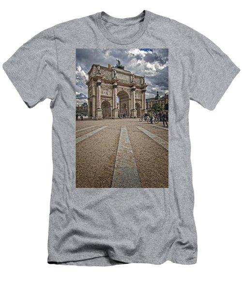 Arc De Triomphe Louvre  Men's T-Shirt (Athletic Fit)
