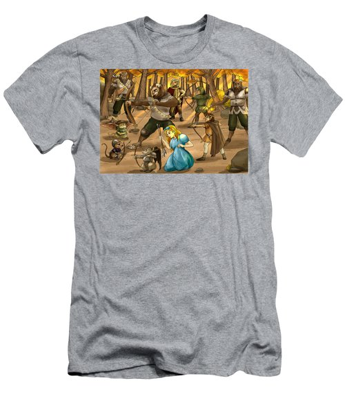Men's T-Shirt (Slim Fit) featuring the painting Archery In Oxboar by Reynold Jay