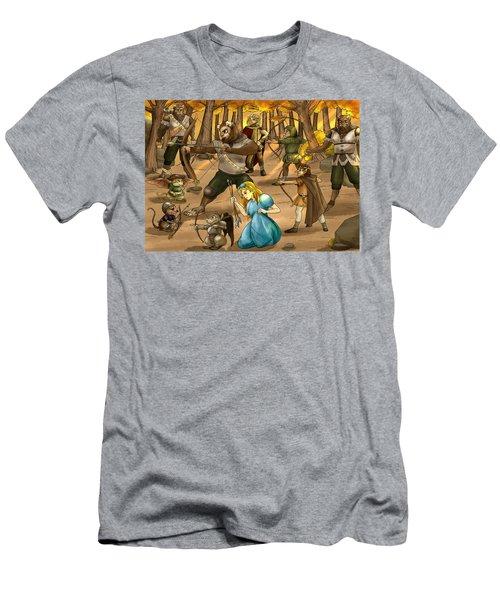 Archery In Oxboar Men's T-Shirt (Athletic Fit)