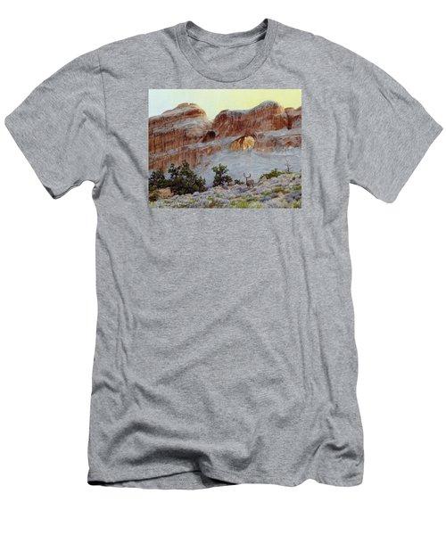 Arches Mulie Men's T-Shirt (Slim Fit) by Bruce Morrison