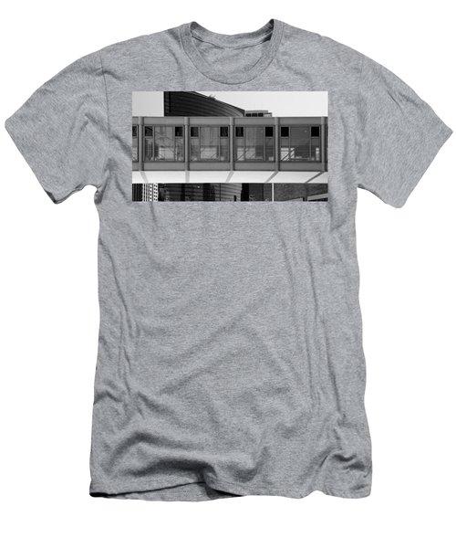 Architectural Pattern Glass Bridge Black White Men's T-Shirt (Athletic Fit)