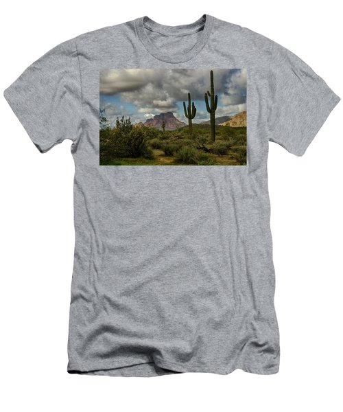 As The Clouds Pass By  Men's T-Shirt (Athletic Fit)