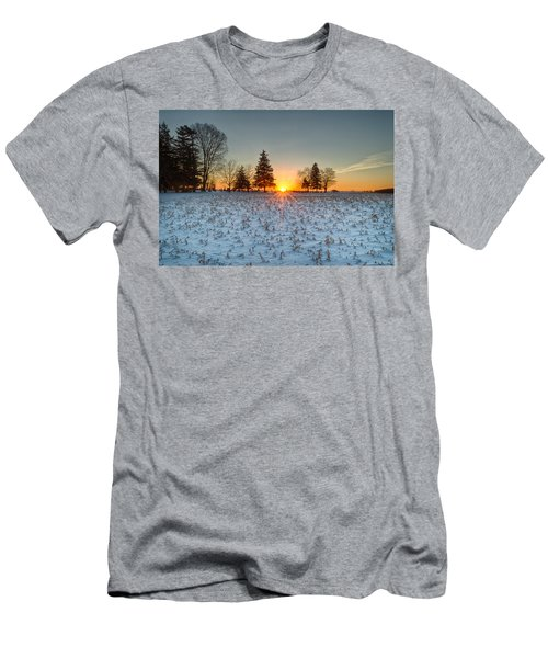 Men's T-Shirt (Athletic Fit) featuring the photograph At First Light by Garvin Hunter