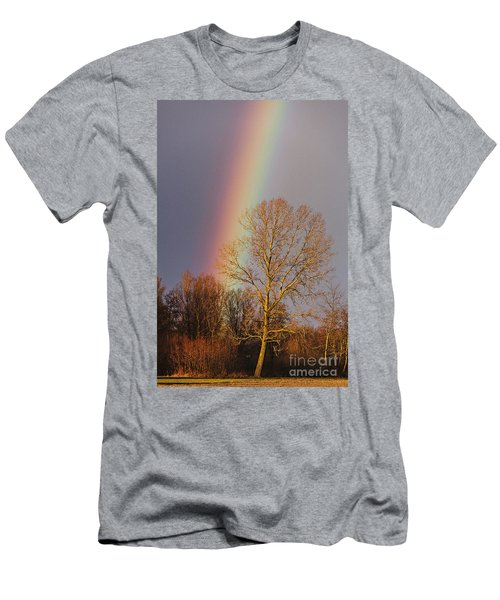 At The End Of The Rainbow Men's T-Shirt (Athletic Fit)