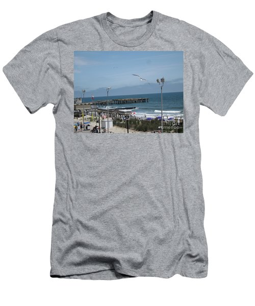 Men's T-Shirt (Slim Fit) featuring the photograph Atlantic City 2009 by HEVi FineArt