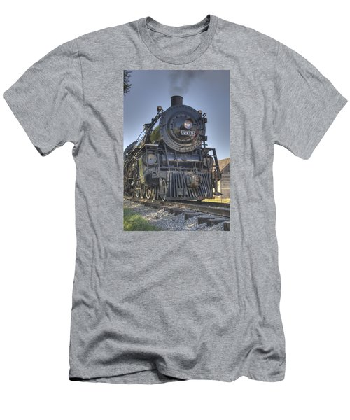 Atsf 3415 Head On Men's T-Shirt (Slim Fit) by Shelly Gunderson