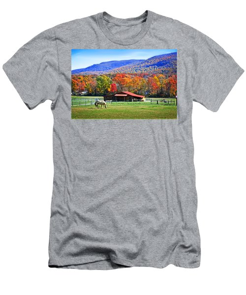 Autumn In Rural Virginia  Men's T-Shirt (Athletic Fit)