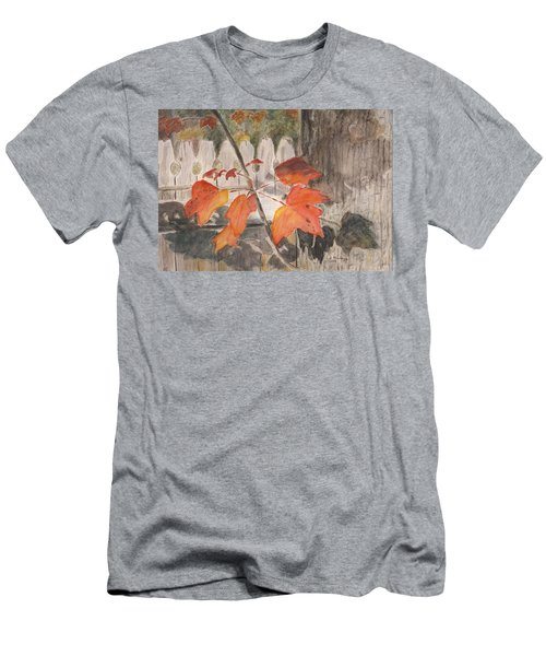 Autumn Leaves On Belmont St Men's T-Shirt (Athletic Fit)