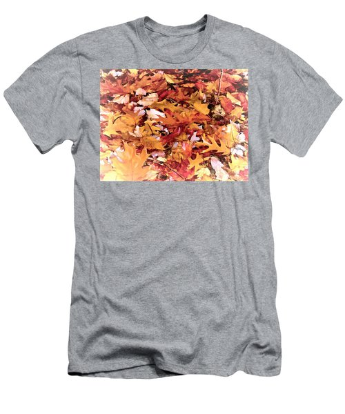 Autumn Leaves On The Ground In New Hampshire In Muted Colors Men's T-Shirt (Athletic Fit)
