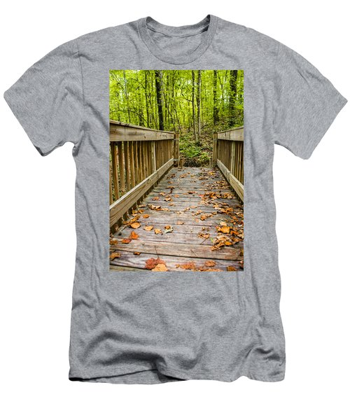 Autumn On The Bridge Men's T-Shirt (Athletic Fit)