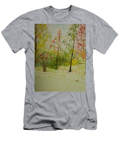 Autumn Scenery Men's T-Shirt (Athletic Fit)