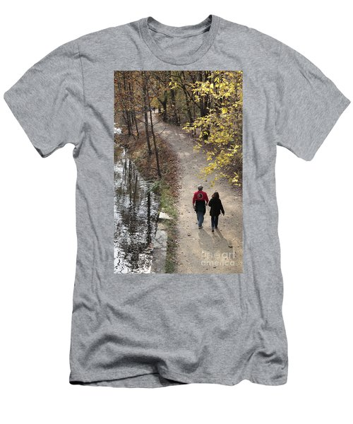 Autumn Walk On The C And O Canal Towpath Men's T-Shirt (Athletic Fit)