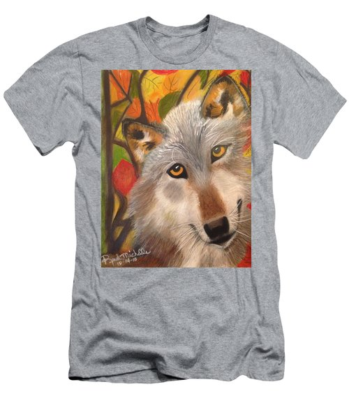 Autumn Wolf Men's T-Shirt (Athletic Fit)