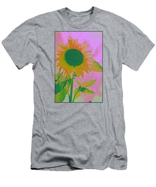 Autumn's Sunflower Pop Art Men's T-Shirt (Slim Fit) by Dora Sofia Caputo Photographic Art and Design