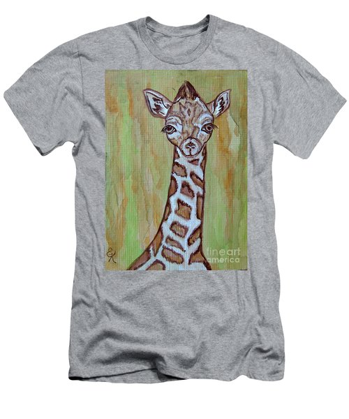 Baby Longneck Giraffe Men's T-Shirt (Slim Fit)