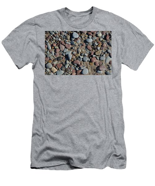 Men's T-Shirt (Slim Fit) featuring the photograph Background Of Wet Pebbles And Sand by Kennerth and Birgitta Kullman