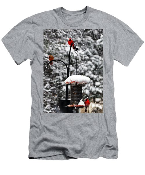 Backyard Winter Wonderland 2  Men's T-Shirt (Athletic Fit)