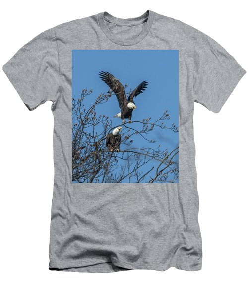 Bald Eagles Screaming Drb169 Men's T-Shirt (Athletic Fit)