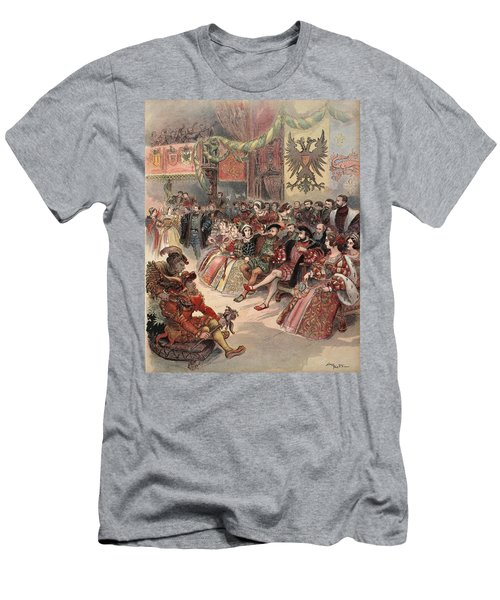 Ball At The Court, Illustration Men's T-Shirt (Athletic Fit)
