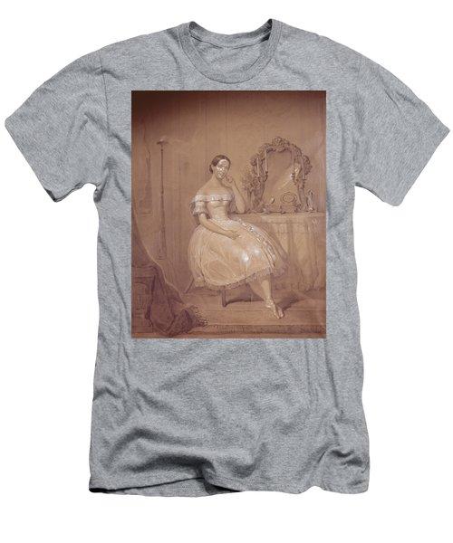 Ballerina In 19th Century Ballet Men's T-Shirt (Athletic Fit)