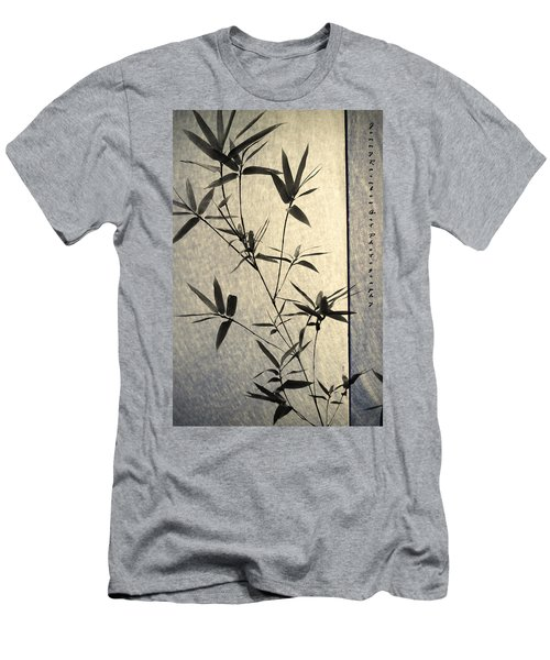 Bamboo Leaves Men's T-Shirt (Slim Fit) by Jenny Rainbow