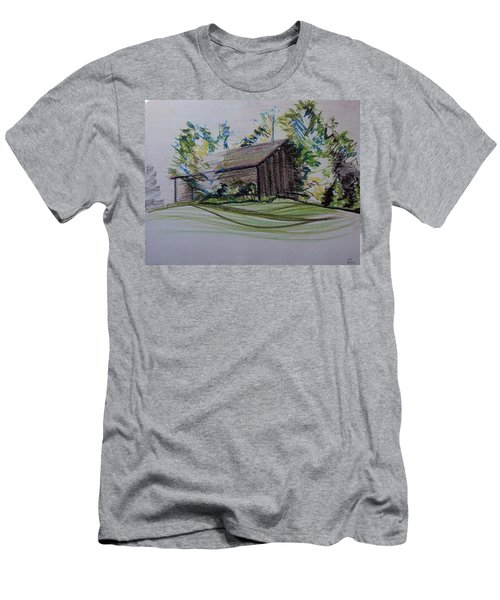 Old Barn At Wason Pond Men's T-Shirt (Athletic Fit)