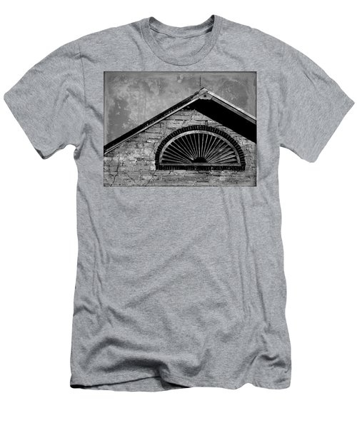 Barn Detail - Black And White Men's T-Shirt (Athletic Fit)