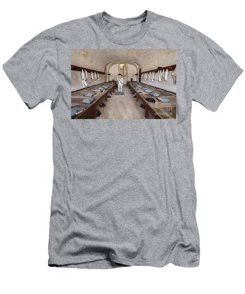 Men's T-Shirt (Athletic Fit) featuring the photograph Barracks At Fort San Cristobal by Bryan Mullennix