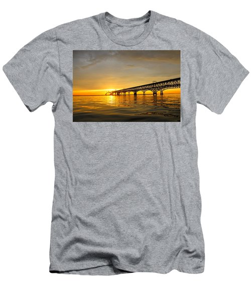 Bay Bridge Sunset Glow Men's T-Shirt (Athletic Fit)