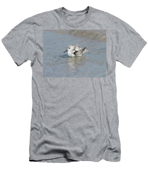 Beach Bird Bath 4 Men's T-Shirt (Slim Fit) by Ellen Meakin