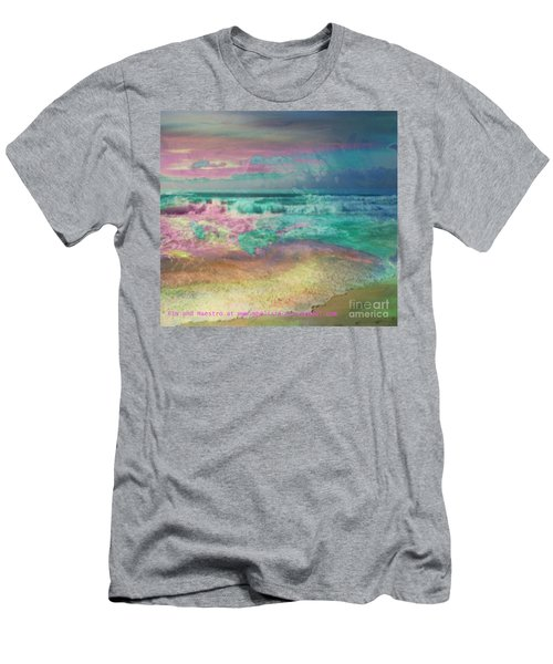 Beach  Overcast Men's T-Shirt (Slim Fit)