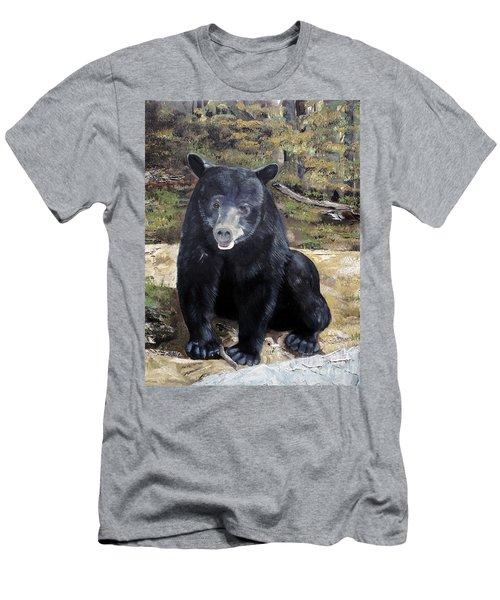Men's T-Shirt (Slim Fit) featuring the painting Bear - Wildlife Art - Ursus Americanus by Jan Dappen