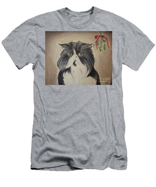Beau With Mistletoe Men's T-Shirt (Athletic Fit)